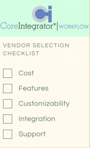 CoreIntegrator Vendor Selection Checklist